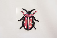Pink bug with sequins 4 x 3 cm