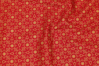 Red christmas-cotton with gold print