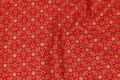 Red christmas-cotton with gold print.