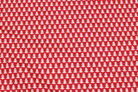 Red christmas-cotton with small white christmas trees