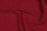 Red cotton with 1 mm white dot