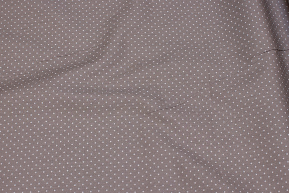Sand-colored cotton with 1 mm white dot