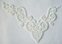 Spachtel lace trim, off-white no. 5