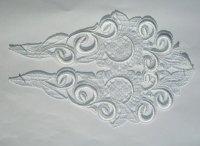 Spachtel trim, white lace ornament