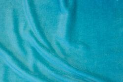 Stretch velvet in light turqoise