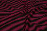 Striped cotton in bordeaux and black
