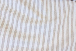 Textile-table-cloth striped sand and off white