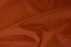 Opholstry-velvet in rust-colored