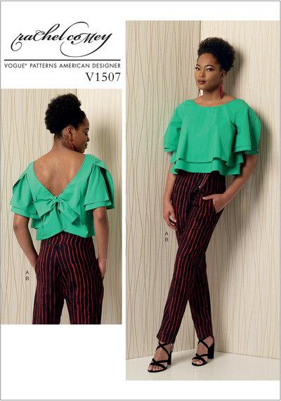 Layered Back-Tie Top and Asymmetrical-Zip Pants - Rachel Comey