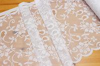 White lace-café-drape