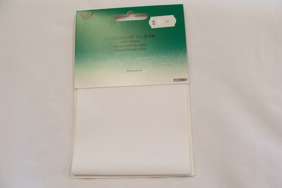 White nylon repair patch 10 x 20 cm