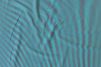 Narrow-striped cotton-jersey in turqoise and grey