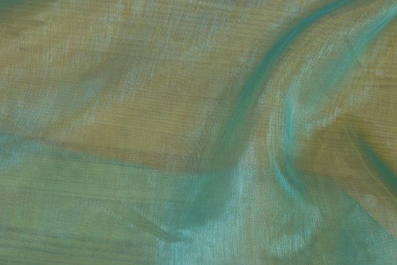 Turqoise-green organza, transparent