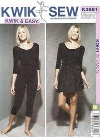 Kwiksew 3661. Classic gymnastics suit for women.