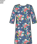 """These Misses/Miss Petite dresses with lace options and sleeve variations are versatile enough for a special event or everyday. Hem options include gallon edge or optional trim. Pattern has cutting lines applicable for Petites. Simplicity sewing pattern."""""""