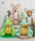 Stuffed Deer and Frog