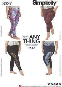 Simplicity 8327. Knit Leggings with Length Variations.