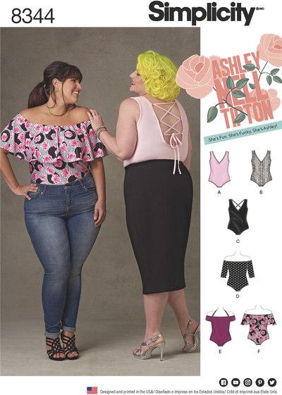 Plus Size Knit Bodysuits by Ashley Nell Tipton