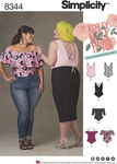 Simplicity 8344. Plus Size Knit Bodysuits by Ashley Nell Tipton.