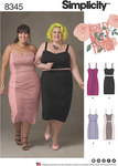 Simplicity 8345. Plus Size Dress, Top and Skirt by Ashley Nell Tipton.
