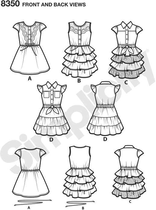 American Girl dresses for children with a modern western style. Dress can be made short sleeve or sleeveless and with or without a collar. Skirts can be either layered, short peasant or just circular. Add lace to bodice and or tie to waist. Matching outfit for doll available.