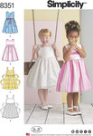Adorable child´s sleeveless dresses with two bodice options are perfect for spring holidays and parties. Skirt can be made with or without an overlay. Add a ribbon belt around the waist or opt for wider ties sewn in the side seam and tied at back.