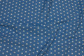 Light blue cotton with white 1 cm stars