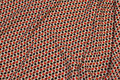 Micro-polyester with small pattern in creme and navy and red