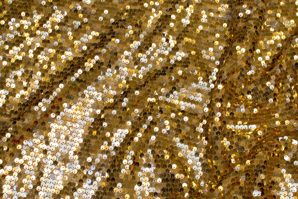 Mesh-base with gold sequins