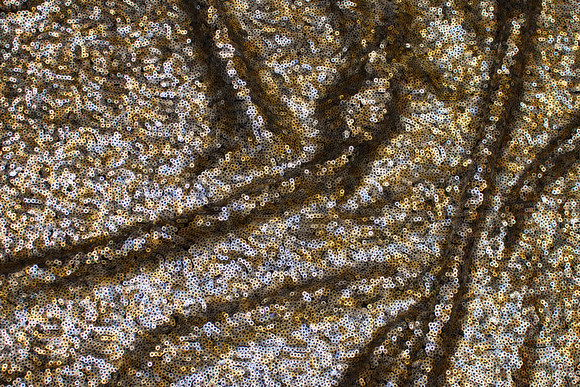 Sequin-fabric with close-fitting sequins in silver and gold