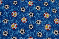 Blue cotton with 3-4 cm soccer balls