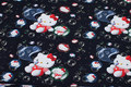 Black cotton-jersey with cute cats