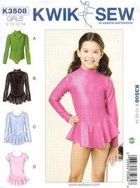 Classic gymnastics suit for girls. Kwiksew 3508.