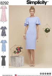 Miss Petite Dresses. Simplicity 8292.