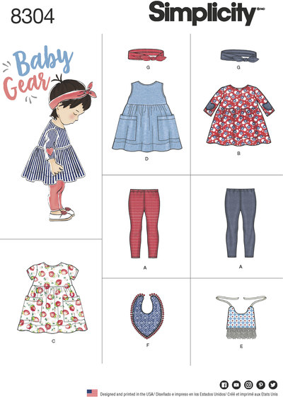 Babies´ Leggings, Top, Dress, Bibs and Headband