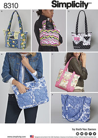 Quilted Bags in Three Sizes. Simplicity 8310.