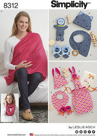 Knit Baby Gifts and Nursing Shawl. Simplicity 8312.