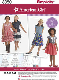 American Girl Child´s Dress. Simplicity 8350.