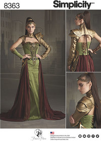 Fantasy Ranger Costume. Simplicity 8363.