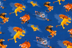 Blue cotton-jersey with the Lion King