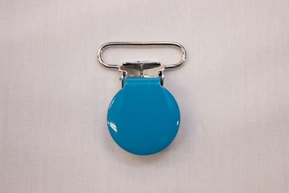 Blue-turqoise suspender clip