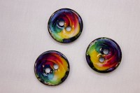 Coconut button with shine in beautiful colors, 23 mm