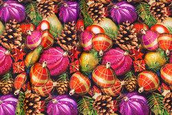 Cotton-jersey with beautiful christmas-balls