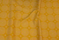 Dark yellow cotton with white 5.5 circles