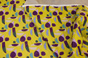 Double-sided cotton-quilt in lime-yellow and purple
