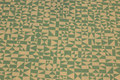 Off white cotton with jade-green pattern, 100% organic