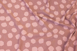 Old rose viscose-jersey with ca. 2 cm lighter dots