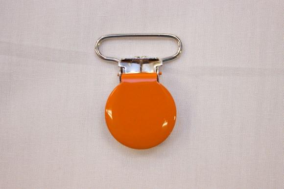 Orange suspender clip