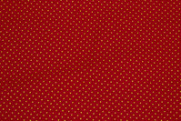 Red cotton with mini-gold-dots