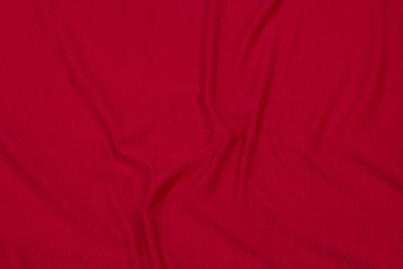 Red, lightweight sweatshirt fabric